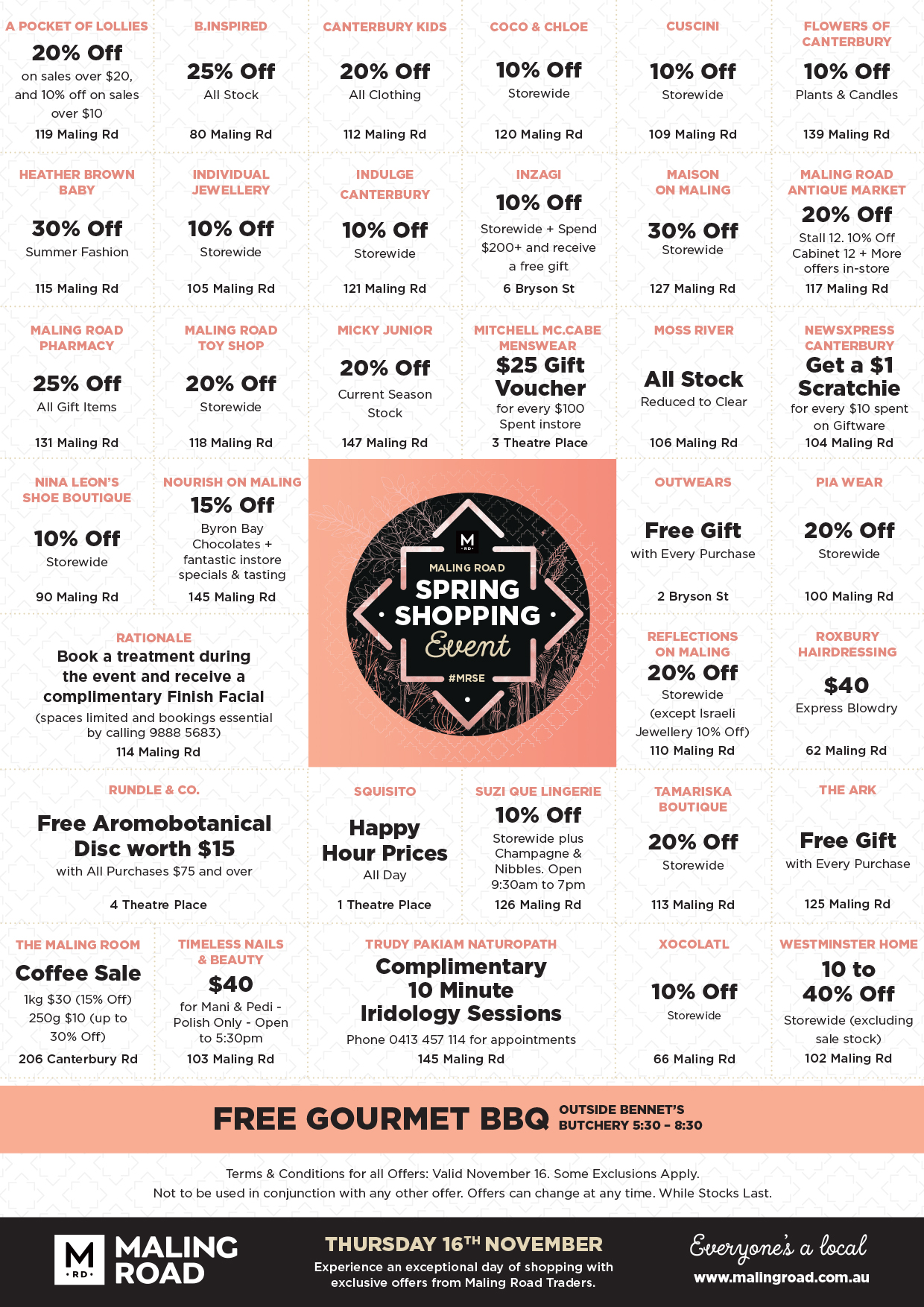 Maling Road Spring Shopping Event Offers