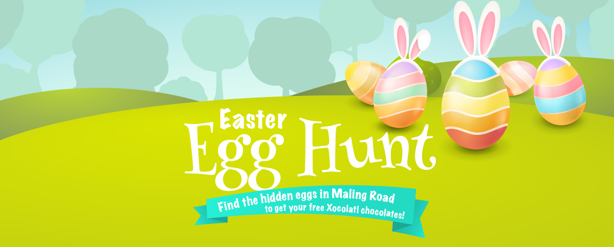 Easter Egg Hunt Maling Road Cantebury