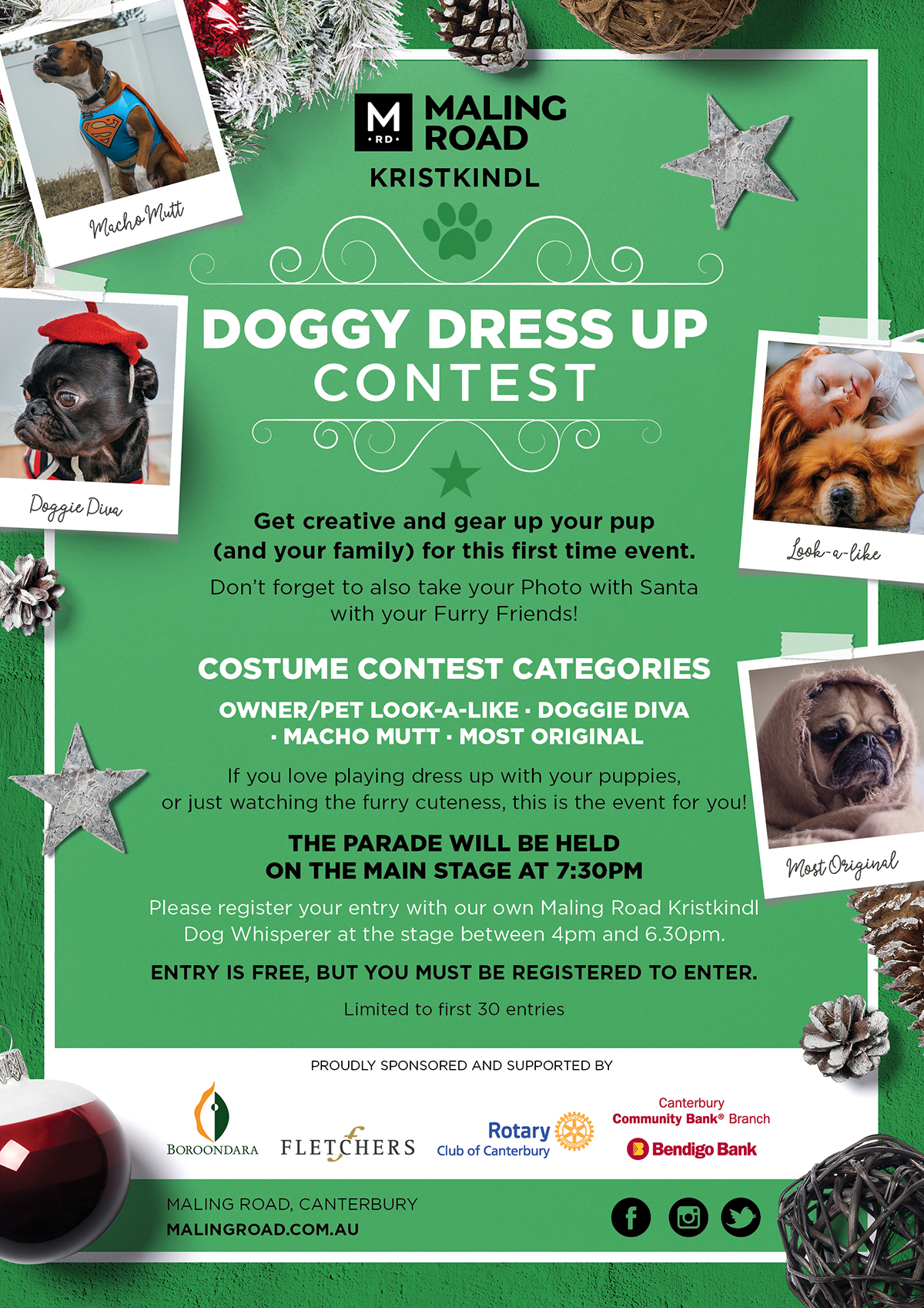 Doggy Dress Up Contest Maling Road