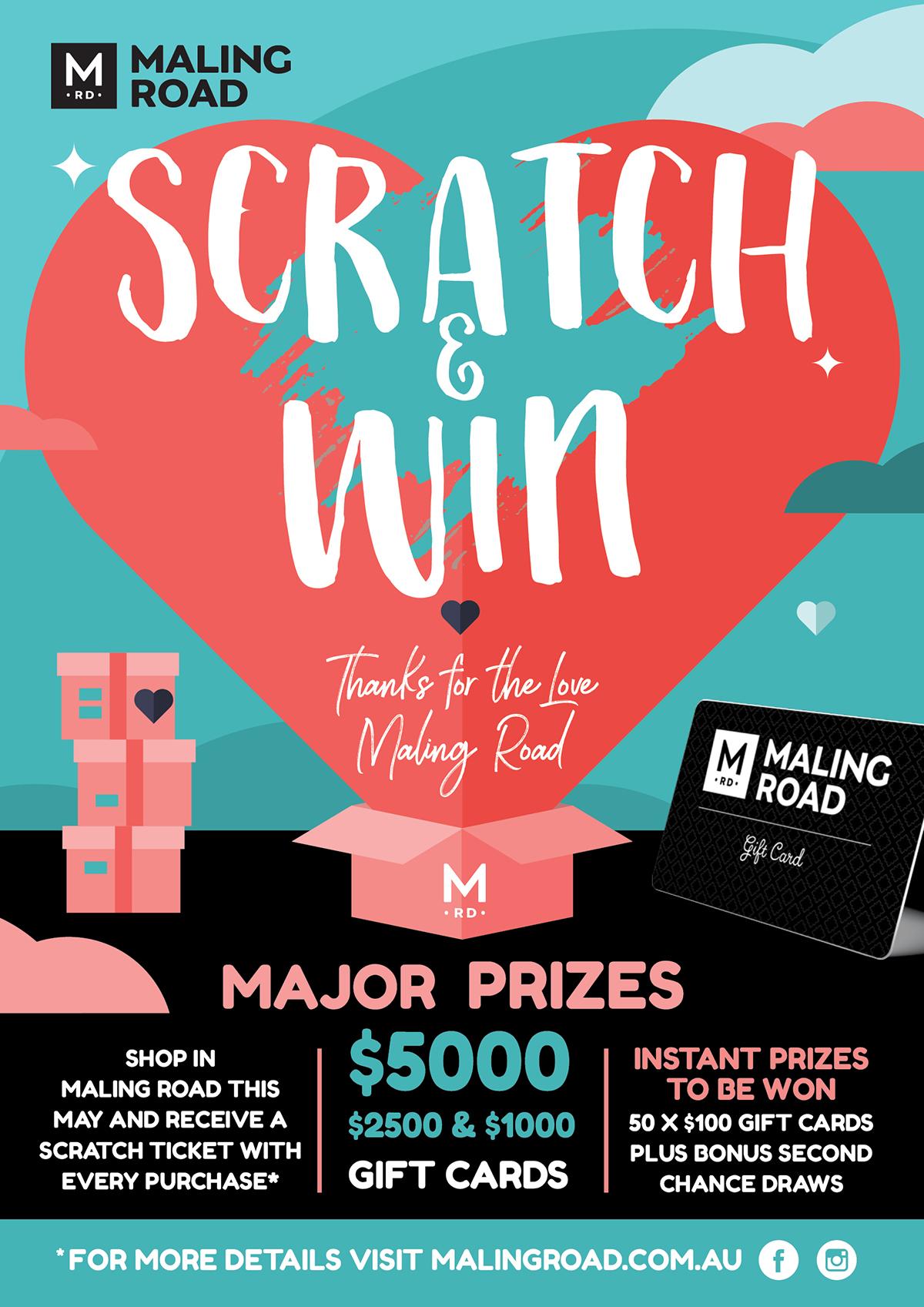 Maling Road Scratch & Win